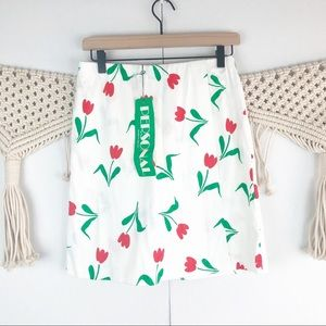 Vintage Personal Tulip patterned skirt size 12